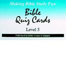 Bible Quiz Cards - Level 5-0