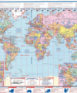 worldusa desk map 13 x 19 laminated desk map