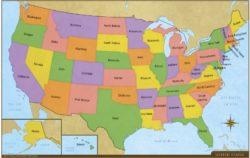 USA Desk Map (2-sided)