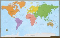 World Desk Map (2-sided)
